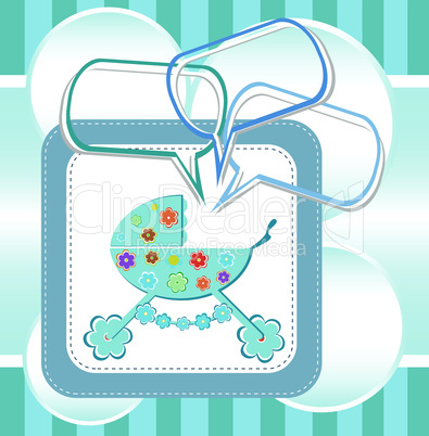Baby boy arrival announcement card. greetings invitation card