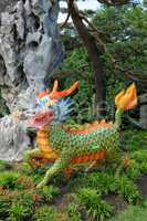 Canada, paper dragoon in the Botanical Garden of Montreal