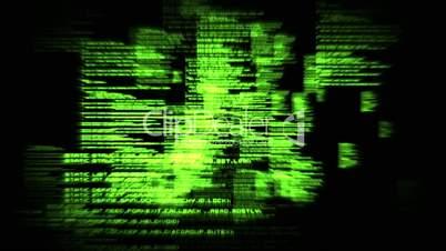 green text unfold