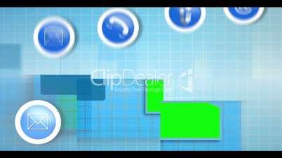 Electronic communication montage animation