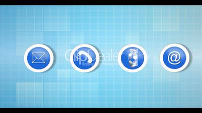 Electronic communication montage animation with video examples