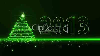 Green lights Christmas Tree 2013
