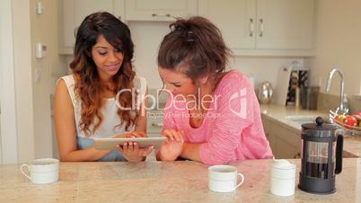 Women using tablet pc