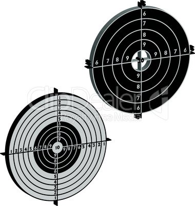 target for shooting practice at a shooting range with a pistol