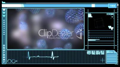 Digital interface showing virus