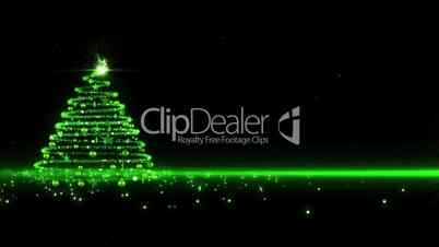 Green lights Christmas Tree background