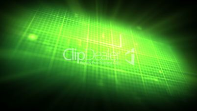 Green ECG on on digtial grid background