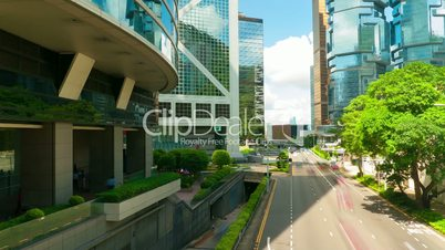 Street traffic in Hong Kong, timelapse in motion