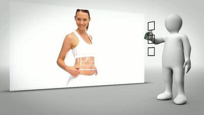 Clip of woman measuring waist