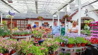 Assistant showing plants