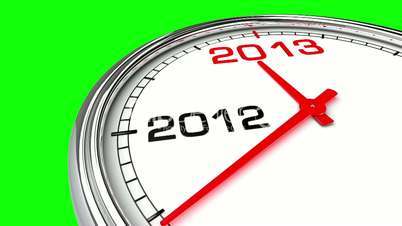 New Year 2013 Clock (Green Screen)