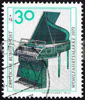 Postage stamp Germany 1973 Pedal Piano, 18th Century