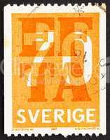 Postage stamp Sweden 1967 EFTA Emblem