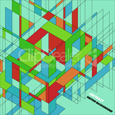 Abstract 3D vector background for design