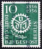 Postage stamp Germany 1956 Engineers? Society Emblem