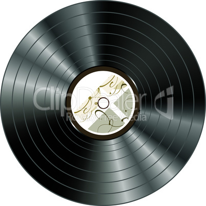retro vintage vinyl record isolated on white background - vector
