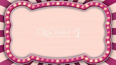 flash light pink marquee loop
