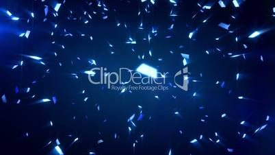 blue shiny confetti background loop
