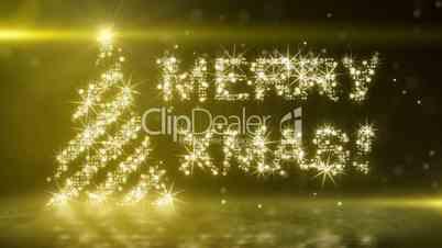 gold light christmas tree last 10s loop