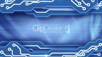 electronic circuit plates blue loop background