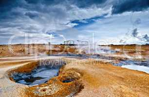 Kraterlandschaft in Island