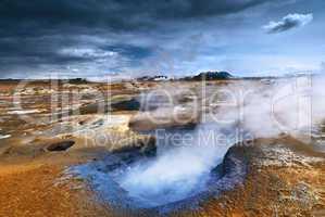 Schlammvulkan auf Island