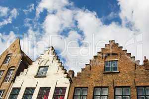 Facade of Flemish Houses in Brugge, Belgium