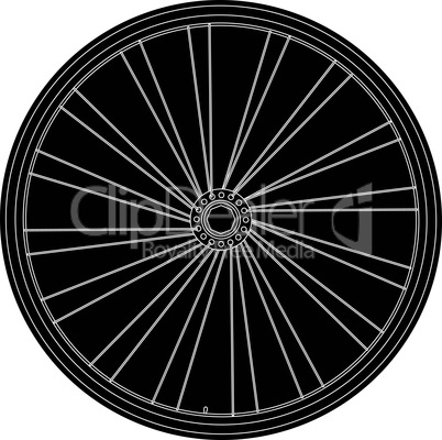 Conceptual abstract bike wheel isolated on white