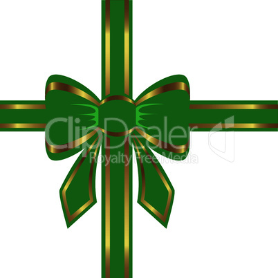 vector ribbon with bow