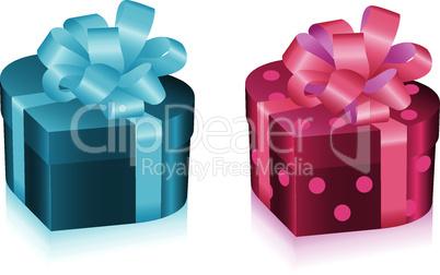 vector gift boxe