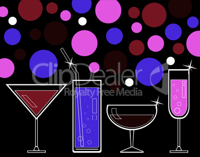 vector alcoholic drinks and juice