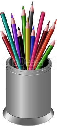 vector  pencils in a pen-cup