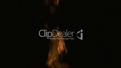 Flame on Black Background 300fps