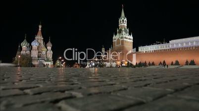 Night Red Square Kremlin  St. Basil's Cathedral slider