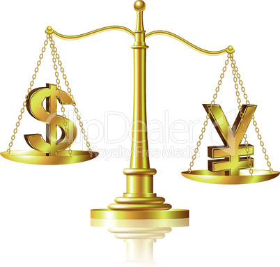 Yen outweighs Dollar on scales.
