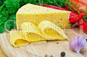 Cheese with spices and herbs