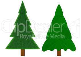 Two evergreen fir-trees