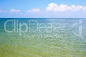 Seascape. Coastal shallow water
