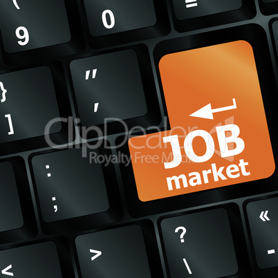 Job market key on the keyboard