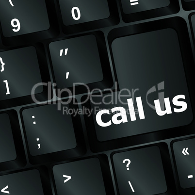 keyboard with call us button