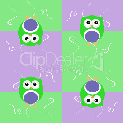 Cute seamless owl background patten for baby kids in vector