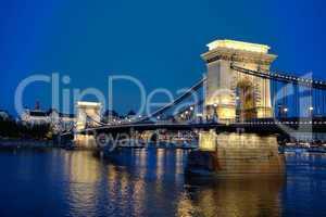 Széchenyi chain bridge in Budapest, Hungary
