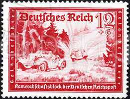 Postage stamp Germany 1939 Automobile Race