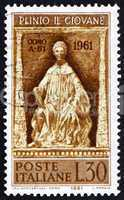 Postage stamp Italy 1961 Statue of Pliny, Como Cathedral