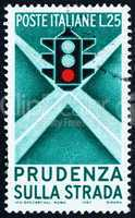 Postage stamp Italy 1957 Traffic Light