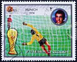 Postage stamp Fujeira 1972 Football Scene, Germany 74