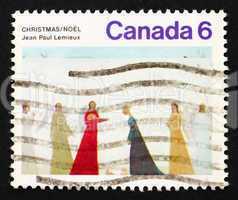 Postage stamp Canada 1974 Nativity by Jean Paul Lemieux