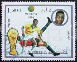 Postage stamp Fujeira 1972 Football Scene, Germany 74