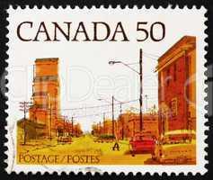 Postage stamp Canada 1978 Main Street, Prairie Town