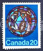 Postage stamp Canada 1976 Nativity, by Yvonne Williams